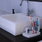 Porta Escovas e Creme Dental com Base