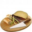Tábua de Madeira Oval para Queijo Camembert